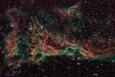 Nebula NGC 6979   Instrument: Takahashi 106 Fsq f/5 on Gemini G41 + ccd SXV-H9 Exposures: Ha 17x15' (1x1), OIII 9x5' (2x2), SII 10x6' (2x2), Astronomics filters (Ha 13 nm). Date: august 2007