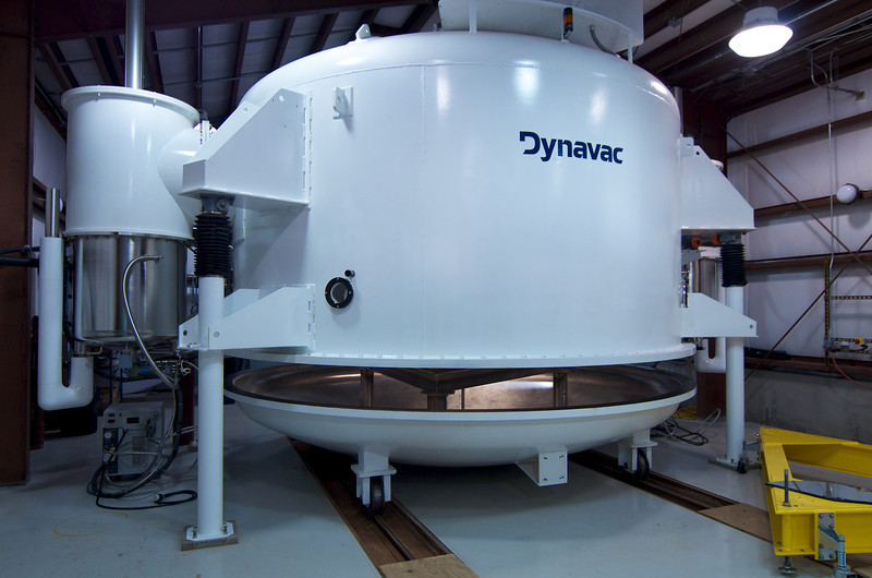 Outside of aluminize autoclave used to re-surface the primary mirror when its reflectivity drops below a defined limit.
