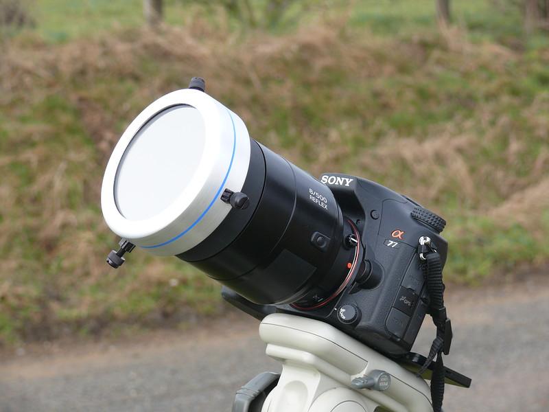 Sony A77 + 500mm f8.0 + filtre semi aluminé