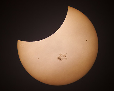 Partial Solar Eclipse and AR2192