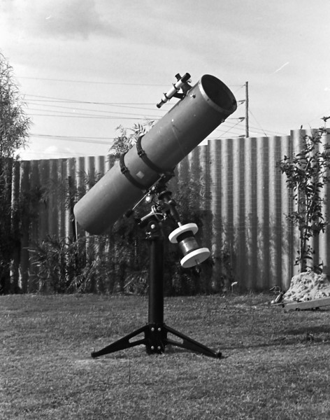"8"" Newtonian Reflector in the backyard of my parents Bull Creek home mid-1978"