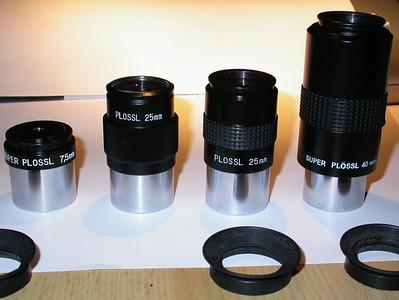 2. links: Das legendäre TAL-König 25mm Okular (57°)