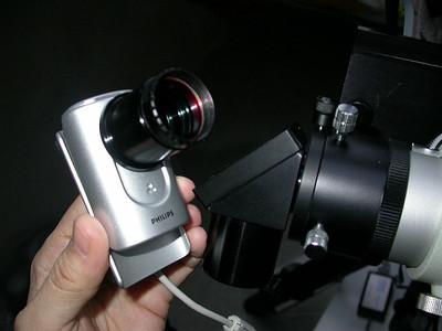 Der IR-Filter vom Baader wird am Webcam-Adapter zugeschraubt