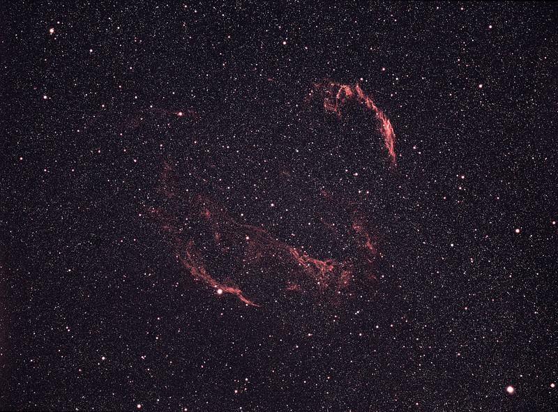 Veil Nebula<br /> <br /> Mamiya + Kodak Ektachrome E200
