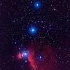 Horsehead Nebula & Orion Belt<br /> <br /> Takahashi 106 FSQ f/5 + Mamyia + Ektachrome E200