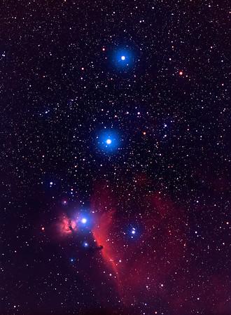 Horsehead Nebula & Orion Belt  Takahashi 106 FSQ f/5 + Mamyia + Ektachrome E200