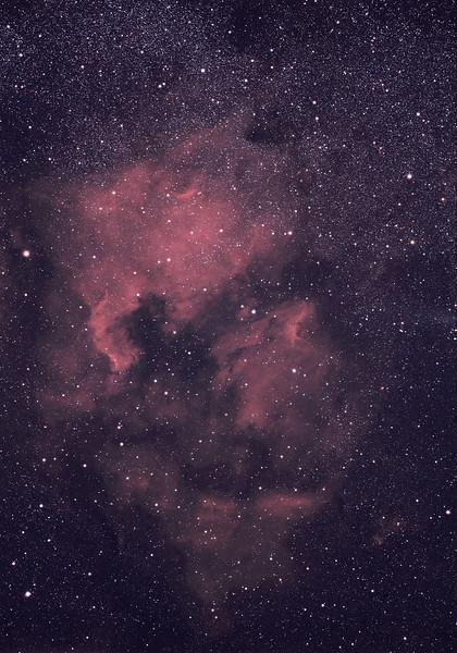 Nord America Nebula<br /> <br /> Takahashi 106 f/5 + Mamiya + Kodak Ektachrome E200