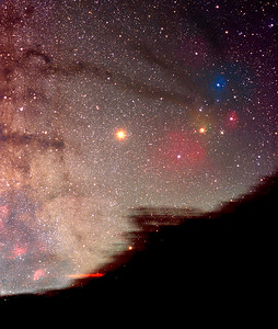 Rho Ophiuchi cloud complex and Mars