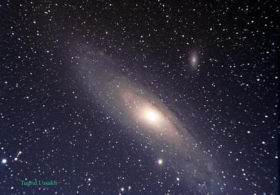 M31 Andromeda Galaxy  2005 Saklikent-Turkey  Telescope : Takahashi Sky 90 f/5.5 Camera    : StarlightXpress MX25C Mount      : Takahashi EM-11 Temma2