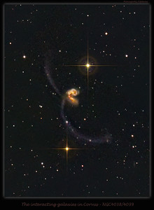 Interacting Galaxies in Corvus