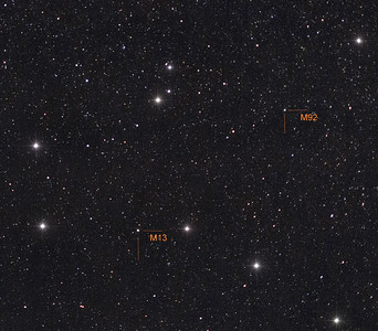 M13 and M92 in Hercules