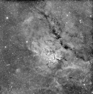Sh2-86 Nebula    Instrument: Takahashi 106 Fsq f/5 on Gemini G42 + ccd KAI 4021 + H-alpha filter 5nm Exposures: Ha 12x30' (1x1) Date: september 2009