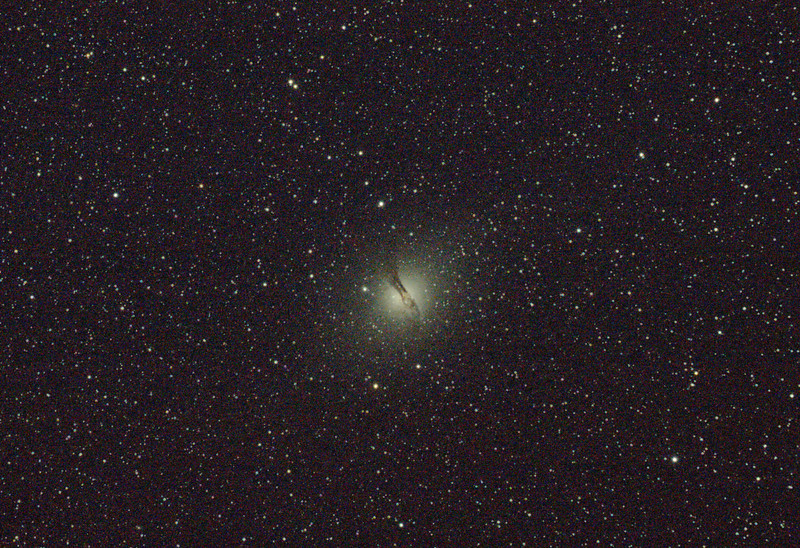 Caldwell 77 - NGC5128 - Centaurus A Galaxy - Dark Sky site near Wagin - 4/3/2011 (Single processed image)
