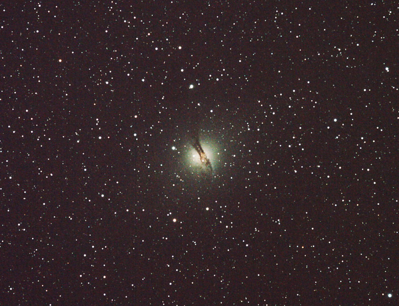 Caldwell 77 - NGC5128 Centaurus A Galaxy - 6/6/2011 (Processed cropped stack)