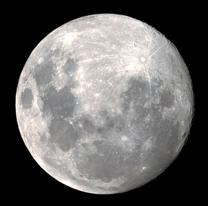 Gibbous Moon - 9/11/2011 (Processed single raw)