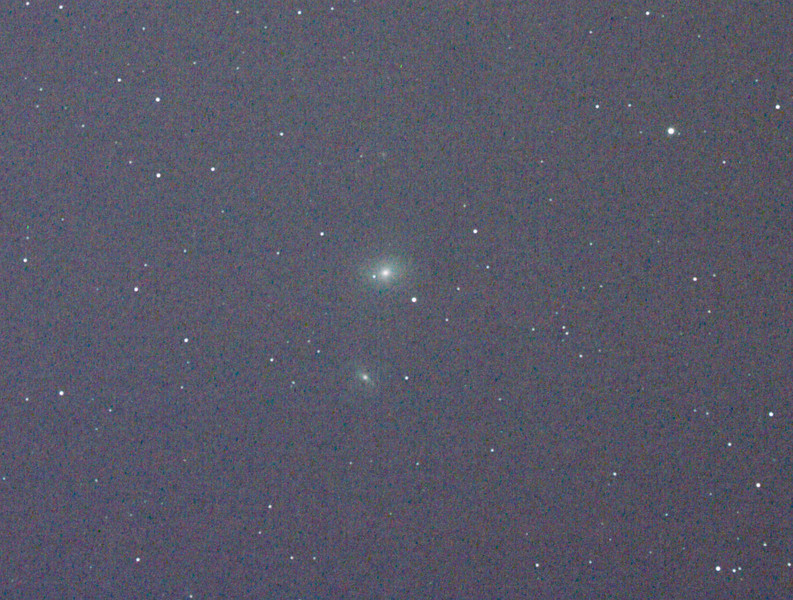 Messier M85 - NGC4382 Lenticular Galaxy - 3/4/2011 (Processed cropped stack)<br />  <br /> DeepSkyStacker 3.3.2 Stacked 80% of 11 Images ISO 800 120 Sec, 11 DARK, 0 BIAS, 0 FLATS, Post-processed by Photoshop CS5<br />  <br /> Telescope - Apogee OrthoStar LOMO 80/480 with Hotech SCA Field Flattener, Hutech IDAS LPS-P2 filter, Canon 400D DSLR, Ambient xxC not noted. Mount - Skywatcher NEQ6 Pro. Guidescope - Orion ShortTube 80 with Star Shoot Auto Guider.