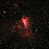 Messier M17 - NGC6618 - Gum 81 - Eagle or Swan Nebula - 9/5/2011 (Reprocessed cropped stack)