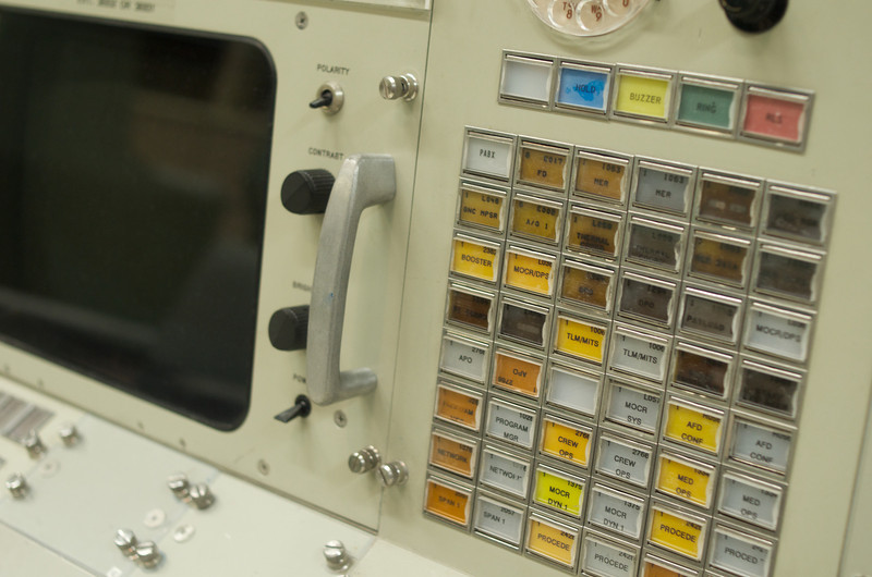 We got some special access to the Apollo Mission Control Room.  This room has been marked a National Heritage Site -- everything in it including the carpeting is authentic and original from the Apollo era.