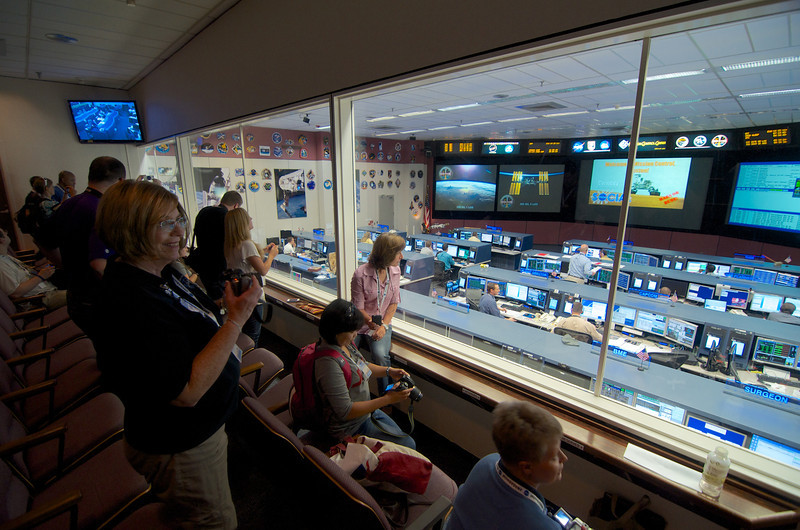 Folks are very excited to listen and watch the fine folks oversee the operation of the International Space Station.