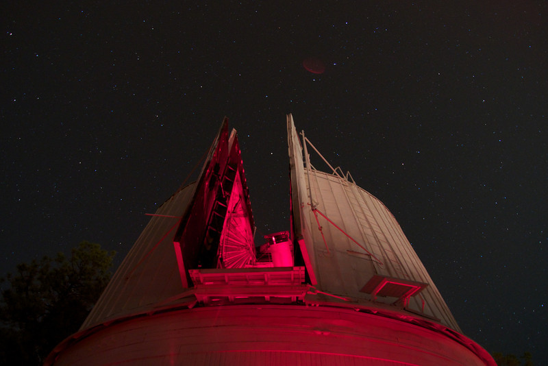 Big Dipper pouring into Clark Observatory.