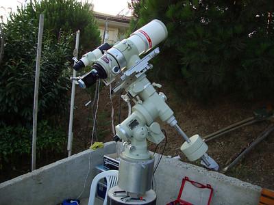 Batı yönünden görünüm. Teleskopa bulucu dürbünde takıldı. Polar ayara hazırlıklar tamam.
