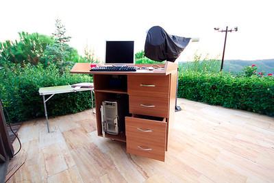 Mobil kontrol masası ve teleskop