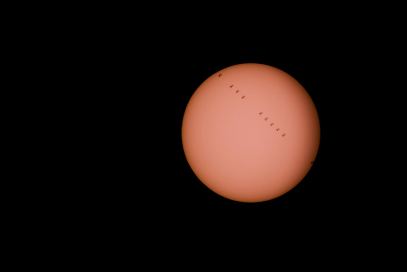 ISS transit of the Sun