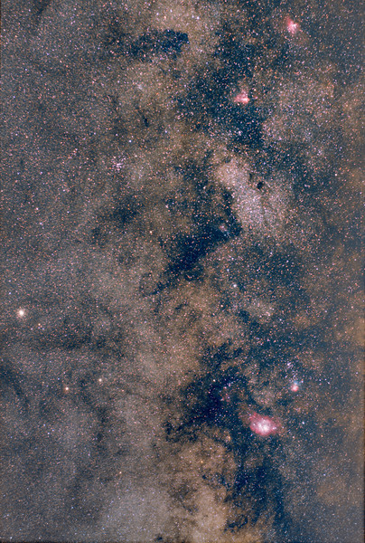 M8 toM16 Canon 85mm f1.8 lens @f3.5 1200 ISO, 80 x 1minute exposures on a Byers CamTrak one axis mount. Canon 60D modified. Taken July 20,2012 by Lynn Hilborn, Whistle Stop Obs, Grafton,Ontario.