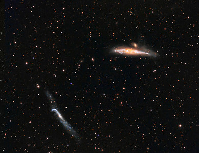 The Whale and the Hockey Stick...2 galaxies in Canes Venatici