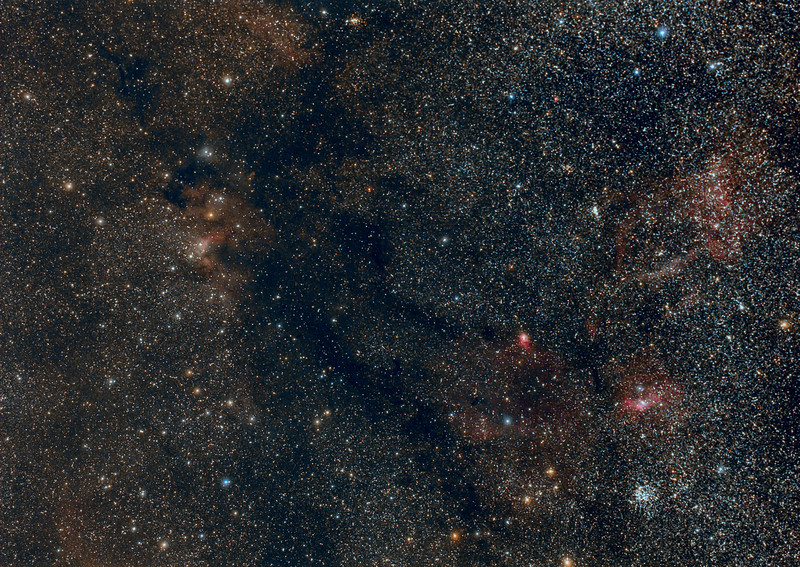Cave nebula to the Bubble and M52