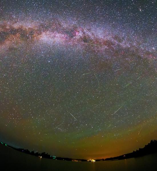 Perseid meteors over Georgian Bay