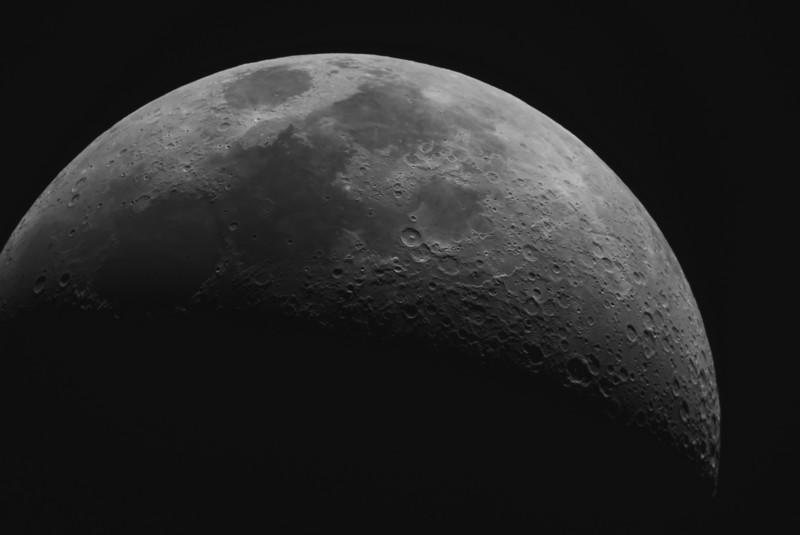 Moon, January 21..in Ha 4/100th of a second...C9.25 and Ml8300 camera. Lynn Hilborn, WhistleStop Obs, Grafton, Ontario