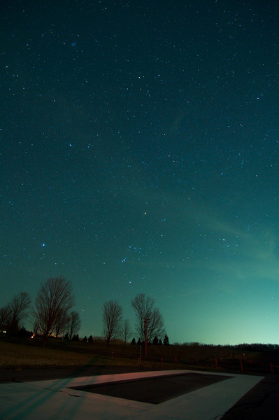 Orion from the end of the Skaneateles Aerodrome.