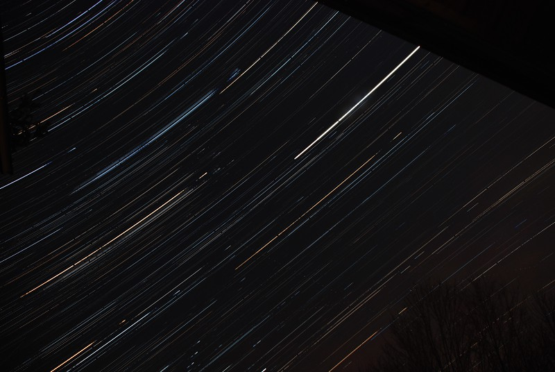 Stars to the east - 2 hour star trail, Dec 1, 2011