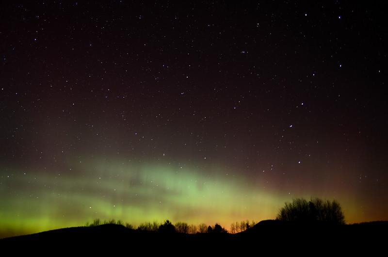 Ursa Major and Aurora borealis as seen from Gabriels, NY on November 14, 2012