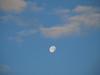 Morning moon over Lake Colby, Saranac Lake, NY