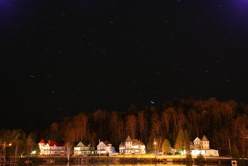 Short star trails over Lake Flower
