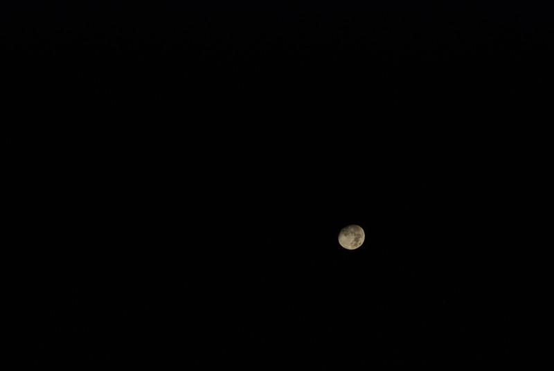 The moon - October 9, near Gabriels, NY