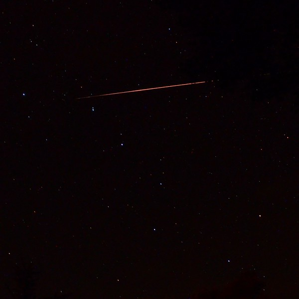 Close-up of large Perseid meteor entering Ursa Major 8/12/13 21:31 EDT