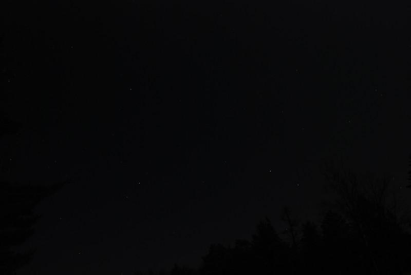 Upper Saranac Lake North Launch - 11/11/11<br /> Stars western sky