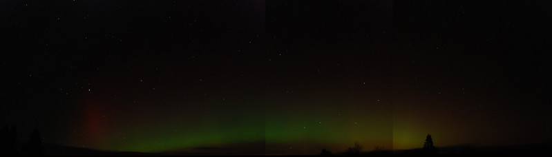Panoramic picture of Oct 24, 2011 Aurora borealis over Gabriels, NY