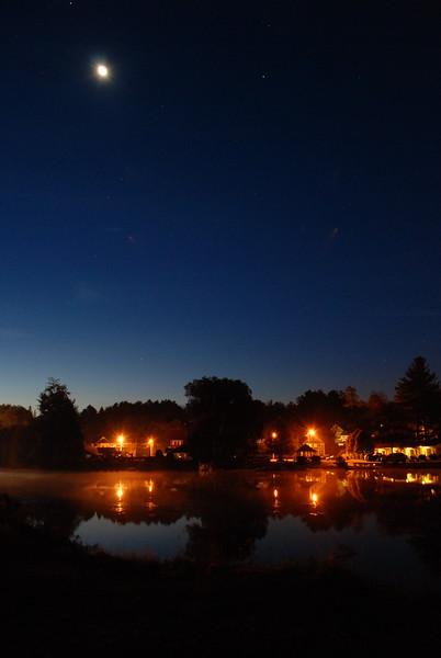 Moon over Pontiac Bay, Lake Flower