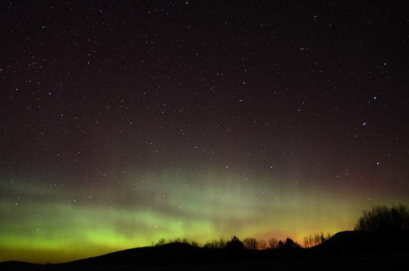 Aurora borealis as seen from Gabriels, NY on November 14, 2012