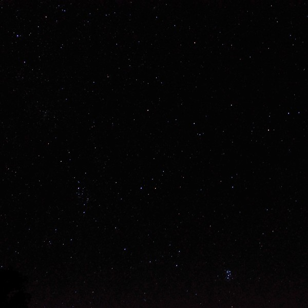 Star-filled Adirondack sky, with Pleiades 8/12/13 3:20AM EDT