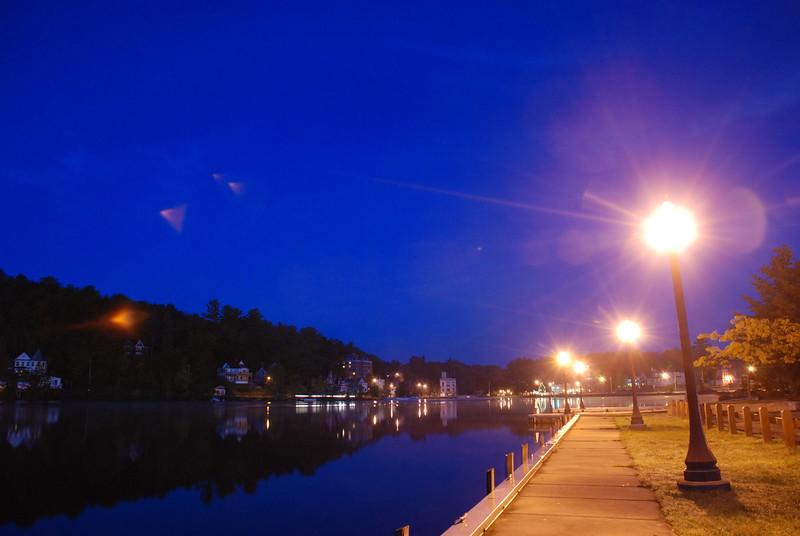 Pre-dawn, Lake Flower docks