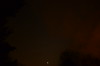 Venus Rising as clouds blot out the stars, trees in foreground - October 25, 2012