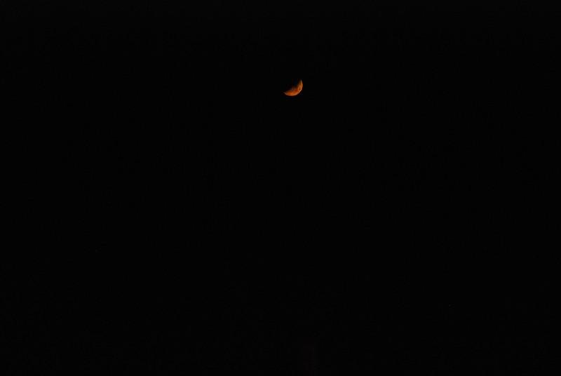 Crescent moon setting over Upper Saranac Lake Nov 1 10:14pm