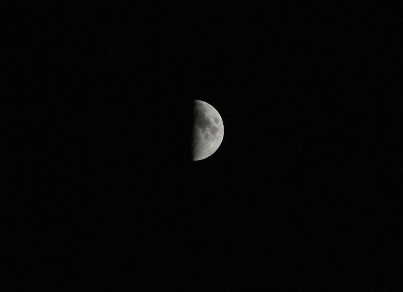 Half moon, November 2, 2011 6:03PM