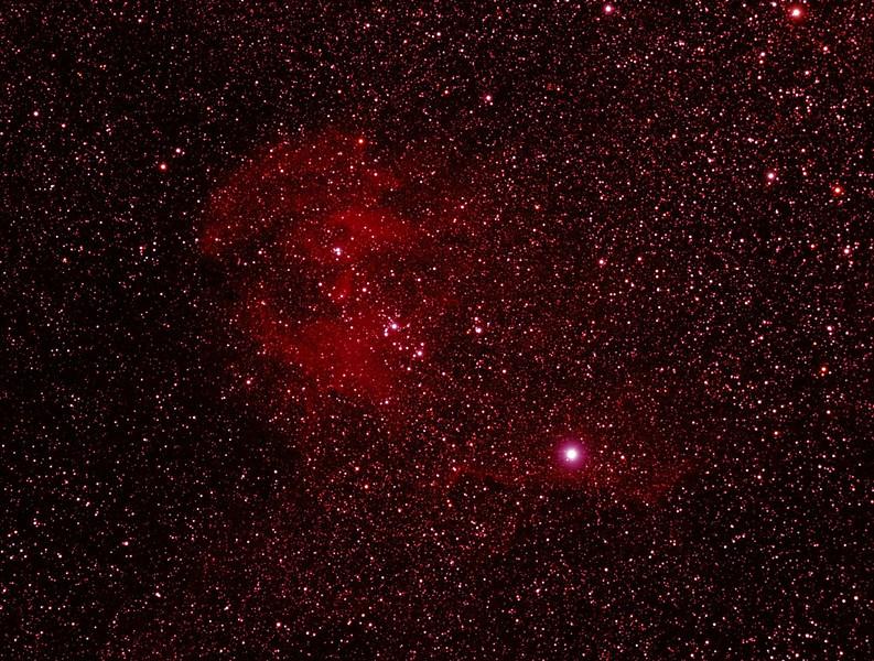 Caldwell 100 - IC2944 - Running Chicken or Lamda Centauri Nebula - 18/05/2012 (Processed and cropped stack)