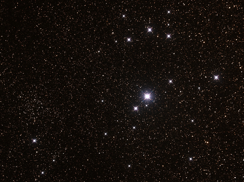 Caldwell 102 - IC2602 - Southern Pleiades or Theta Carina Cluster - 20/4/2015  (Processed cropped stack)